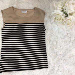 Calvin Klein striped tank top size XS blouse